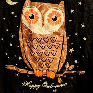 Plus size owl Halloween t-shirt 16/18 Owl-een